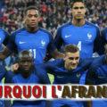 Pourquoi c'est l'équipe d'Afrance ?